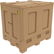 "Buckhorn Intrepid™ Collapsible Bulk Container BZ48404600YC300 - 48""L x 40""W x 46""H, Beige"