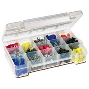 Akro-Mils Small Clear Dividable Storage Case  05705, 8-5/8x5-1/8x1-5/8 - Pkg Qty 12