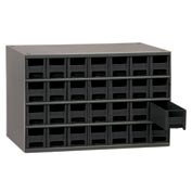 "Akro-Mils Steel Small Parts Storage Cabinet 19228 - 17""W x 11""D x 11""H w/ 28 Black Drawers"