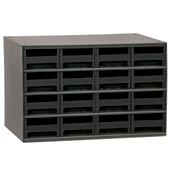 "Akro-Mils Steel Small Parts Storage Cabinet 19416 - 17""W x 11""D x 11""H w/ 16 Black Drawers"