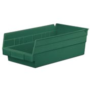 "Akro-Mils EarthSaver™ Shelf Bin 30130RECY 6-5/8""W x 11-5/8""D x 4""H - Hunter Green - Pkg Qty 12"