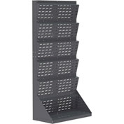 "Akro-Mils Single-Sided Louvered Lean Panel™ Floor Rack 30652 - 35-3/4""W x 17""D x 75-1/8""H"