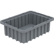 Akro-Mils Akro-Grid Dividable Container 33103 10-7/8 x 8-1/4 x 3-1/2 Gray - Pkg Qty 20