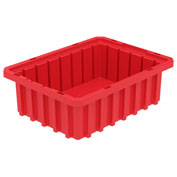Akro-Mils Akro-Grid Dividable Container 33103 10-7/8 x 8-1/4 x 3-1/2 Red - Pkg Qty 20