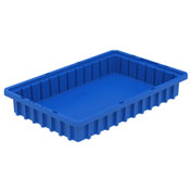 Akro-Mils Akro-Grid Dividable Container 33162 16-1/2 x 10-7/8 x 2-1/2 Blue - Pkg Qty 12