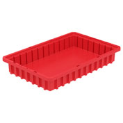Akro-Mils Akro-Grid Dividable Container 33162 16-1/2 x 10-7/8 x 2-1/2 Red - Pkg Qty 12