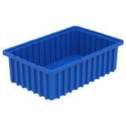 Akro-Mils Akro-Grid Dividable Container 33165 16-1/2 x 10-7/8 x 5 Blue - Pkg Qty 12