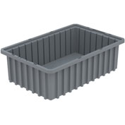 Akro-Mils Akro-Grid Dividable Container 33165 16-1/2 x 10-7/8 x 5 Gray - Pkg Qty 12