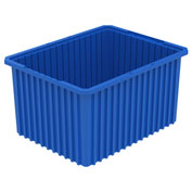 Akro-Mils Akro-Grid Dividable Container 33222 22-1/2 x 17-1/2 x 12 Blue - Pkg Qty 3