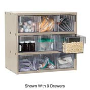 Akro-Mils Super Modular Cabinet AD1811PASTCRY Putty w/ 8 Clear Akrodrawers 18 x 11 x 16-1/2