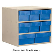 Akro-Mils Super Modular Cabinet AD1811PASTGRY Putty w/ 8 Grey Akrodrawers 18 x 11 x 16-1/2
