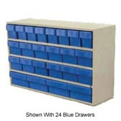 Akro-Mils Large Stackable Putty Cabinet AD3517P w/24 Clear Akrodrawers 35 x 17 x 22