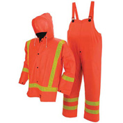 Viking® FR PVC Open Road Suit W/Hi-Vis Reflective Tape, Orange, 3XL