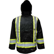 Viking® Journeyman FR Professional Trilobal Rip-Stop Jacket W/Hi-Vis Safety Striping, 3XL