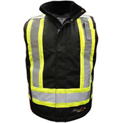 Viking® Journeyman FR Professional Insulated Trilobal Rip-Stop Vest W/Hi-Vis Striping, M