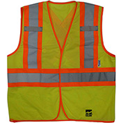 Viking® U6110G Hi-Vis Open Road BTE Safety Vest, Fluorescent Green, 2XL/3XL