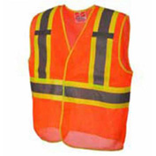 Viking® U6110O Hi-Vis Open Road BTE Safety Vest, Orange, 2XL/3XL