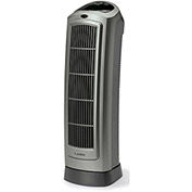 Lasko 5538 23 In. Digital Ceramic Tower Heater with Save-Smart Technology and Remote Control - Gray