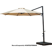 Cantilever 11' Offset Umbrella, Tan