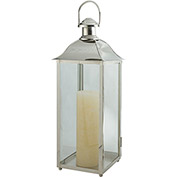 "Cambridge 24"" Carriage Outdoor Lantern, Polished Nickel"