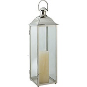 "Cambridge 30"" Carriage Outdoor Lantern, Polished Nickel"