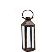 "Cambridge 7.5"" x 21""H Classic Outdoor Lantern, Burnished Copper"