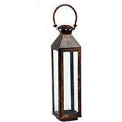 "Cambridge 9"" x 21""H Classic Outdoor Lantern, Burnished Copper"