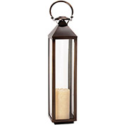 "Cambridge 9"" x 21""H Classic Outdoor Lantern, Bronze"