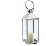 "Cambridge 9"" x 21""H Classic Outdoor Lantern, Polished Nickel"