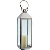 "Cambridge 40"" Classic Outdoor Lantern, Polished Nickel"