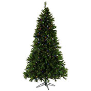 Fraser Hill Farm Artificial Christmas Tree - 12 Ft. Canyon Pine - Multi-Color LED String Lighting