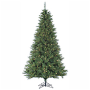 Fraser Hill Farm Artificial Christmas Tree - 6.5 Ft. Canyon Pine - Clear LED Lighting