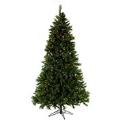 Fraser Hill Farm Artificial Christmas Tree, 7.5 Ft. Canyon Pine, Smart String Clear LED Lights