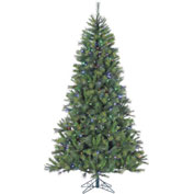 Fraser Hill Farm Artificial Christmas Tree, 7.5 Ft. Canyon Pine, Multi LED Lights
