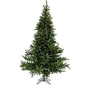 Fraser Hill Farm Artificial Christmas Tree, 7.5 Ft. Foxtail Pine, Multi LED Lights