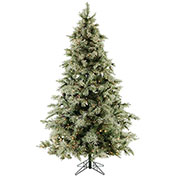 Fraser Hill Farm Artificial Christmas Tree - 9 Ft. Glistening Pine Tree - Clear LED Lights