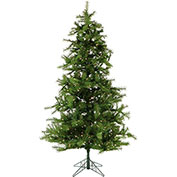 Fraser Hill Farm Artificial Christmas Tree - 7.5 Ft. Noble Fir - Clear LED String Lighting