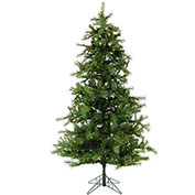 Fraser Hill Farm Artificial Christmas Tree - 7.5 Ft. Noble Fir Pine - Multi-Color LED Lighting