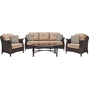 Gramercy 4-Piece Outdoor Wicker Patio Seating Set