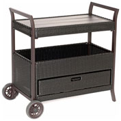 Hanover Outdoor Bar Cart, French Roast
