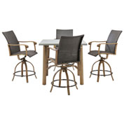 Hanover Hermosa 5-Piece High-Dining Set, Greige