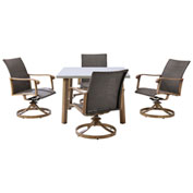 Hanover Hermosa 5-Piece Dining Set, Greige