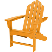 Hanover All-Weather Contoured Adirondack Chair, Tangerine
