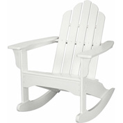 Hanover All-Weather Adirondack Rocking Chair in White