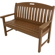 Hanover Avalon All-Weather 48 In. Porch Bench in Teak