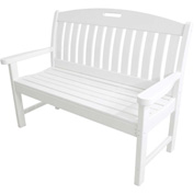Hanover Avalon All-Weather 48 In. Porch Bench in White