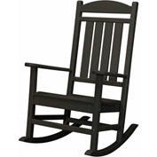 Hanover All-Weather Pineapple Cay Porch Rocker, Black