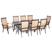 Hanover Manor 9-Piece Outdoor Dining Set, Cedar