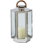 "Cambridge 20"" Marine-Grade Harbor View Lantern, Polished Nickel"