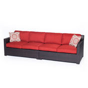 Hanover Metropolitan 2-Piece Loveseat Set, Autumn Berry/French Roast